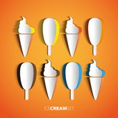 Ice Cream from paper — Stock Vector