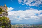 Rocca della Guaita fortress of San Marino — Stock Photo