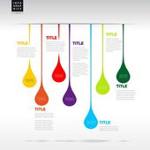 Infographic timeline report template — Vector de stock