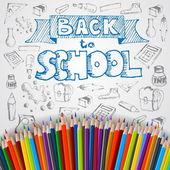 Torna a manifesto scuola — Vettoriale Stock