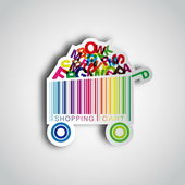 Shopping cart (bar-code) — Wektor stockowy