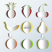 纸水果套 — 图库矢量图片