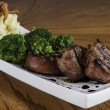 Stock Photo: Pork Tenderloin with Mashed Potato and Brocolli