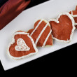 Iced heart cookies — Stock Photo