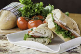 Turkey sub sandwich — Stock Photo