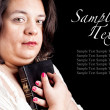 Stock Photo: Hispanic woman with bible