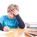 Boy doing homework — Stock Photo