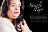 Hispanic woman with bible — Stock Photo