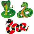 Various collection snake — Stock Vector #14450173