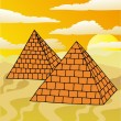 Scenery with pyramids — Stock Vector #14450863