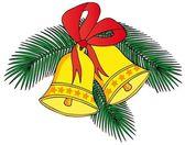 Två christmas klockor — Stockvektor