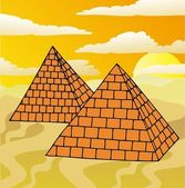 Scenery with pyramids — Stock Vector