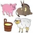 Stock Vector: Farm animals theme collection