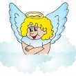 Royalty-Free Stock Vector Image: Angel on cloud