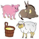 Farm animals theme collection — Stock Vector