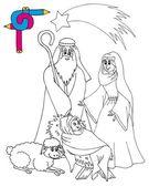 Coloring image Bethlehem — Stock Vector