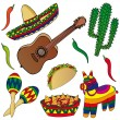 Set of various Mexican images — Stock Vector #17833131