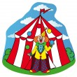 Circus tent with clown — Stock Vector #17833213
