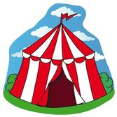 Little circus tent — Stock Vector