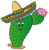 Cactus with sombrero — Stock Vector