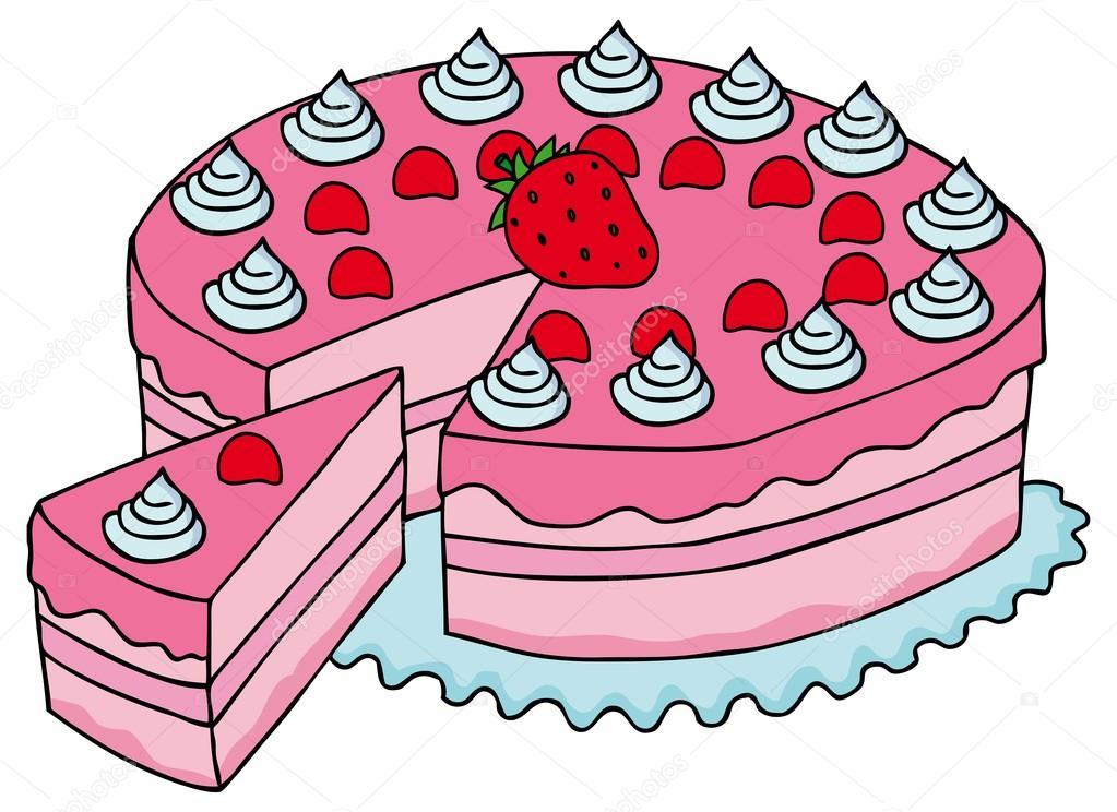 Рисунок разрезанного торта