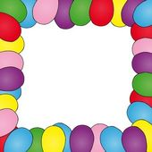 Frame with ballons — Vector de stock