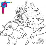 Färbung Bild Jäger — Stockvektor