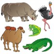 Wild animals collection 02 — Stock Vector