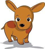 Little brown dog — Stock Vector