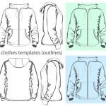 Men's hooded sweatshirt with zipper — Stock Vector #13271756