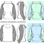 Men's hooded sweatshirt — Stock Vector #13271899