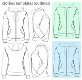Women's hooded sweatshirt — Stock Vector