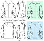 Men's hooded sweatshirt with zipper — Stock Vector