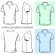 Men's polo-shirt design template — стоковый вектор #13292394