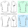 Men&amp;#039;s v-neck t-shirt - Stock Vector