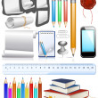 Collection of education objects — Stock Vector