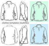 Men's polo-shirt — Stok Vektör
