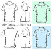 Erkek polo-shirt tasarım şablonu. — Stok Vektör
