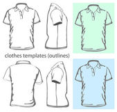 Men's polo-shirt design template — Stockvector