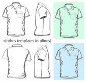 Polo-camisa de los hombres — Vector de stock