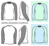 Men's t-shirt long raglan sleeve — Stock Vector