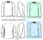 Men's sweatshirt — Stock Vector
