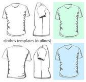 Men's v-neck t-shirt — Stock Vector