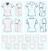 Women's polo-shirt design templates — Stock Vector