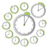 Verzameling van vector timers — Stockvector