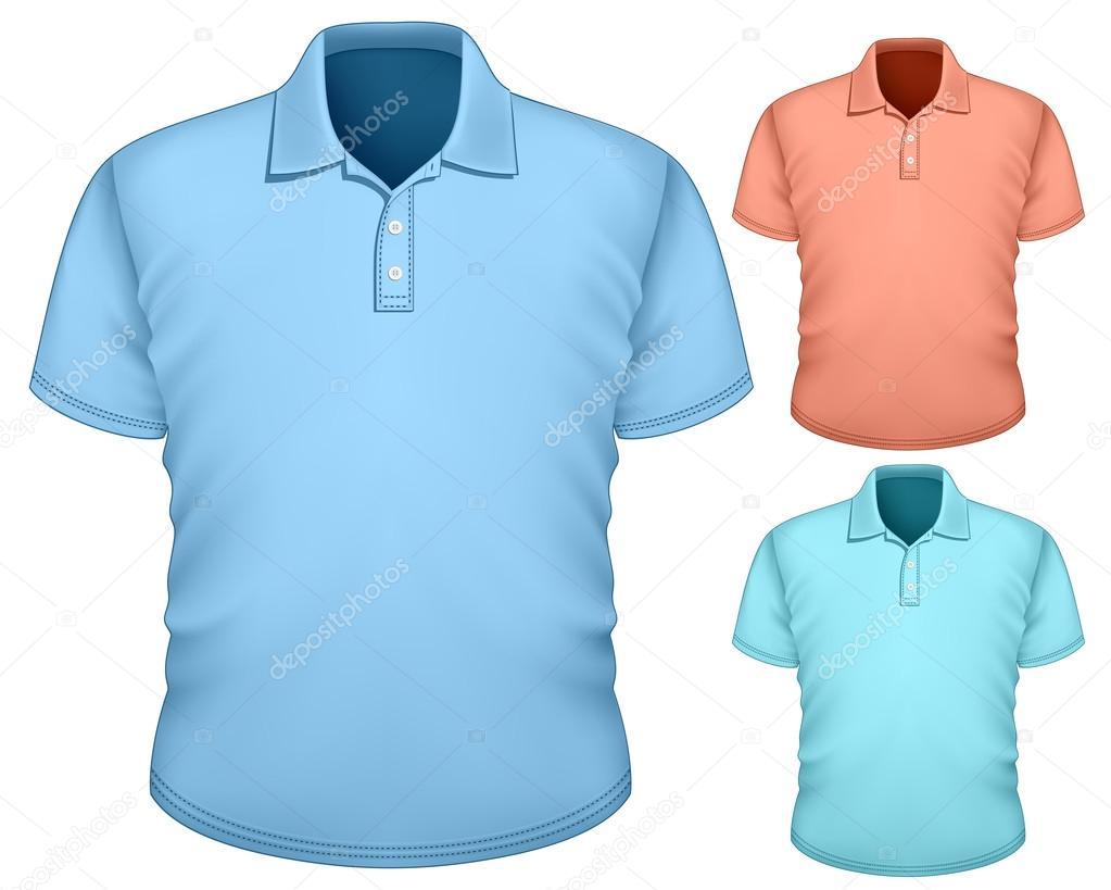 Men's polo-shirt design template — Stock Vector © ivelly #22217633