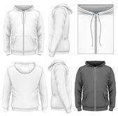 Men's zip hoodie design template — Stock Vector