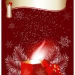 Magic Christmas gift box. — Stock Vector