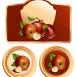 Photo-realistic vector apples. — Stock Vector