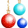Vector Christmas balls. — Stock Vector